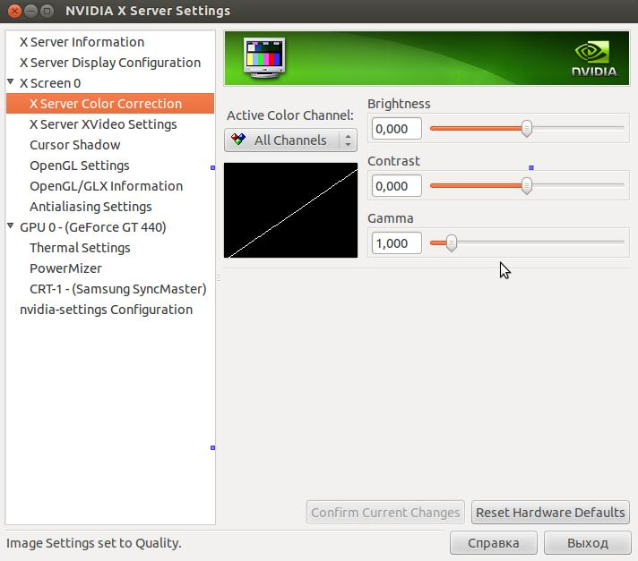 nvidia color settings